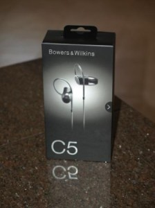 Bower & Wilkins C5 In-Ear Headphones.