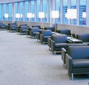Seats in the Maple Leaf Lounge